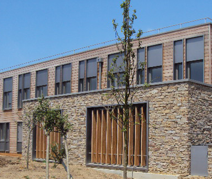 Paneles de piedra natural stonepanel para el nuevo centro - Paneles de piedra natural ...