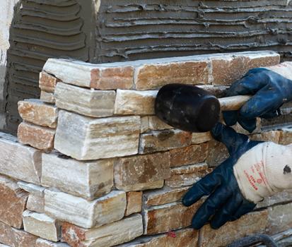 C mo instalar los paneles de piedra natural stonepanel en - Como colocar piedra natural ...