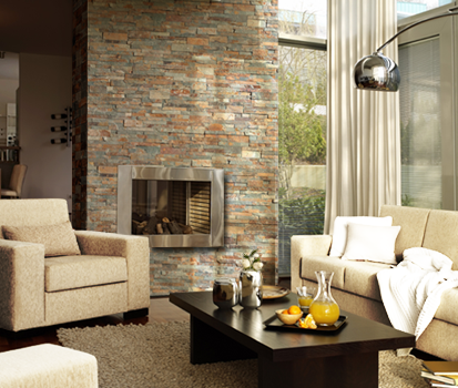 Consejos para revestir una chimenea con piedra natural - Chimenea de pared ...