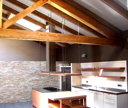 Decoraci n de una cocina contempor nea con paneles de - Paneles de piedra natural ...