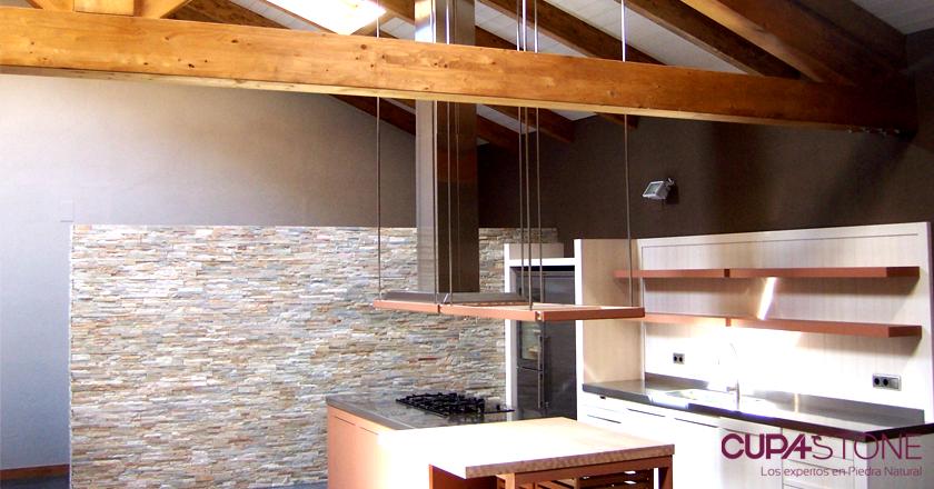 Paneles de piedra natural decopanel para una cocina contempor nea - Paneles de piedra natural ...