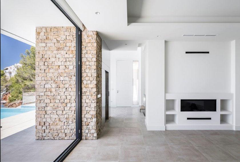 Stonepanel Nilo para la fachada de una casa moderna