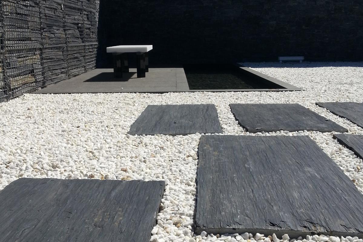 pizarra natural infercoa crea ambientes exclusivos para. Black Bedroom Furniture Sets. Home Design Ideas