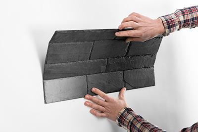 Paso 3. Fijar el panel a la pared - stonetack