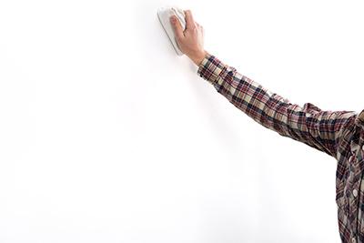 Paso 1. Limpiar y secar la pared - stonetack