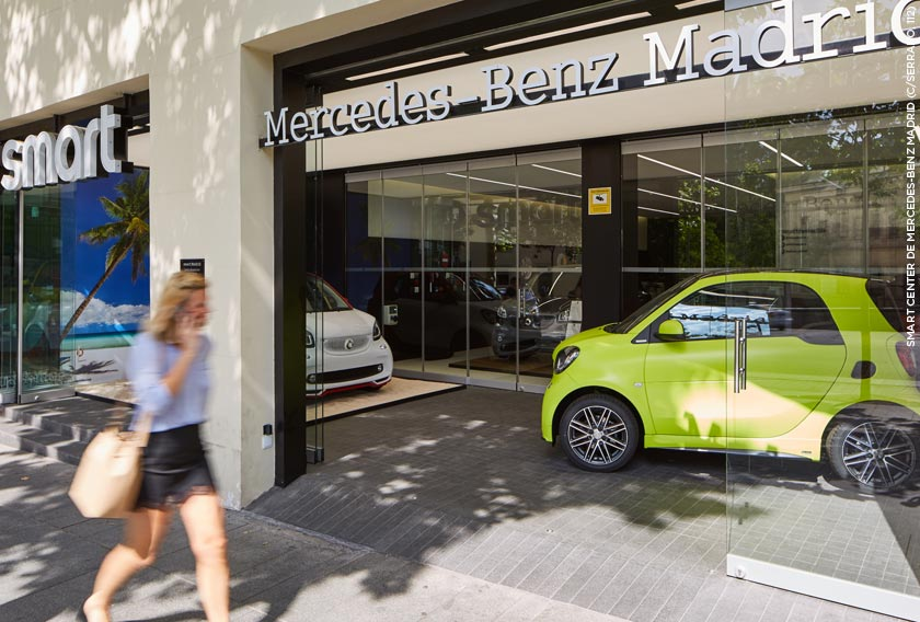 Smart Center Mercedes-Benz Madrid con piedra natural CUPA STONE