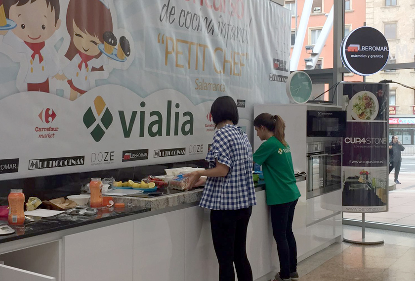 Encimeras CUPA STONE en el concurso Petit Chef de Salamanca