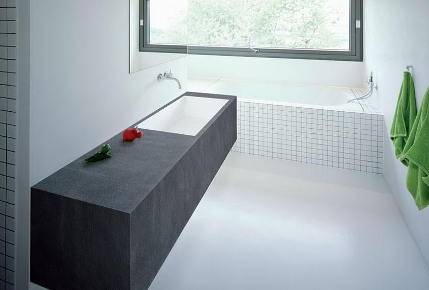 Encimera de piedra natural para baños