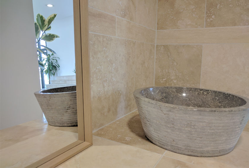 5 usos de la piedra natural para tu ba o - Lavabos de piedra natural ...