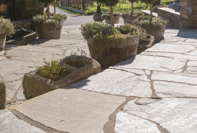 Cuarcitas de Villafranca en el suelo