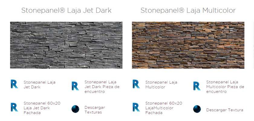 Catálogo de objetos BIM de Stonepanel