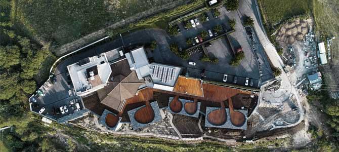 Vista aérea del Hotel Akelarre