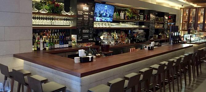 Restaurante Tomiño en Nueva York con piedra natural CUPA STONE