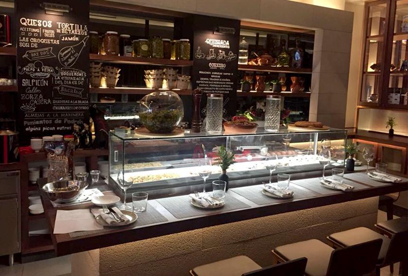 Restaurant Tomiño en Nueva York con piedra natural CUPA STONE