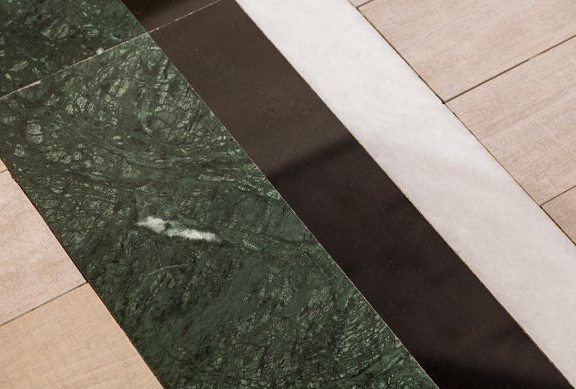 Tendencias de interiorismo: combinación de mármoles
