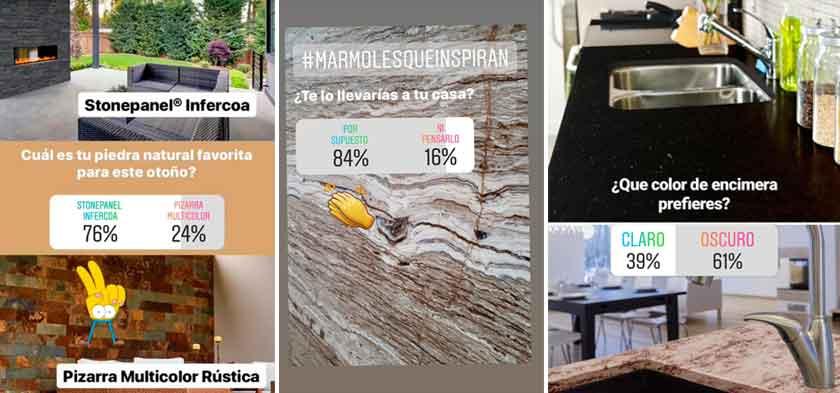 Stories de Instagram en CUPA STONE