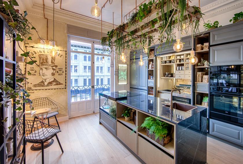 La isla del espacio de Línea 3 Cocinas en Casa Decor 2019