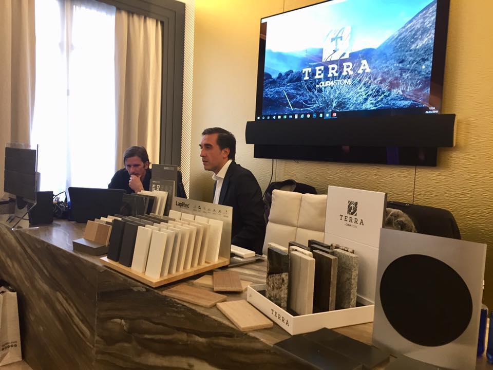 Guillermo Oviedo, director de CUPA STONE Iberia en la presentación