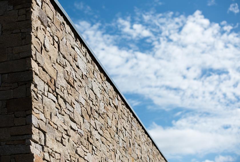 Muros de paneles de piedra natural Stonepanel